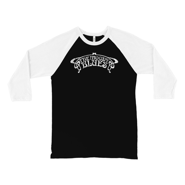 Moody Blues Distressed White Logo Raglan