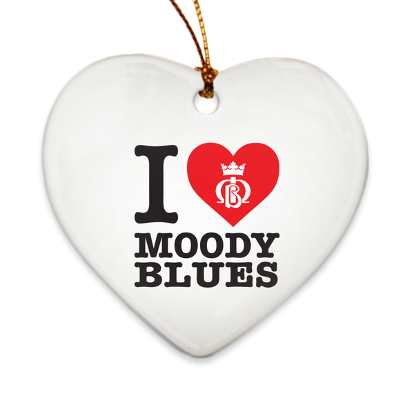 I Heart Moody Blues Porcelain Ornament