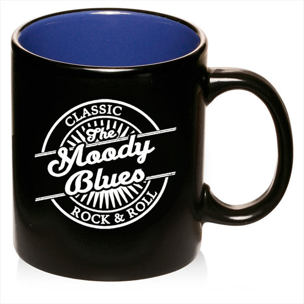 "Moody Blues ""Classic Rock & Roll"" Logo Black Mug"