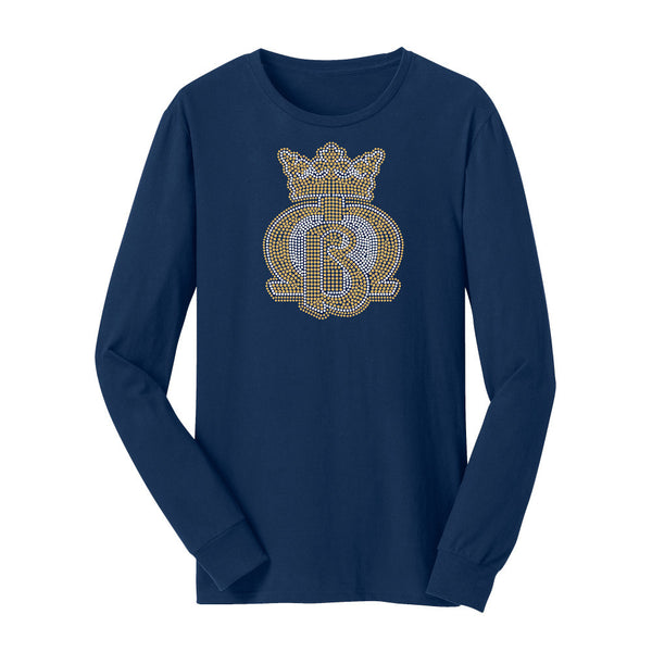 MB Crown Crystal Logo (Navy Crew)