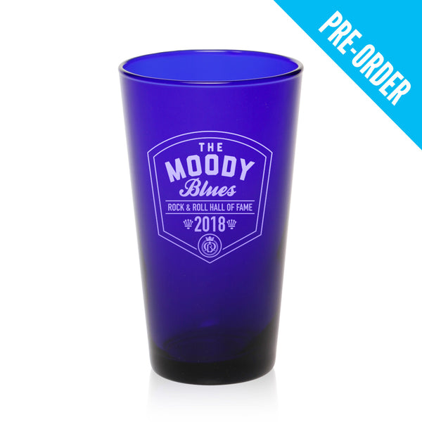 Moody Blues Rock Hall Commemorative Etched Cobalt Blue Pint Glass