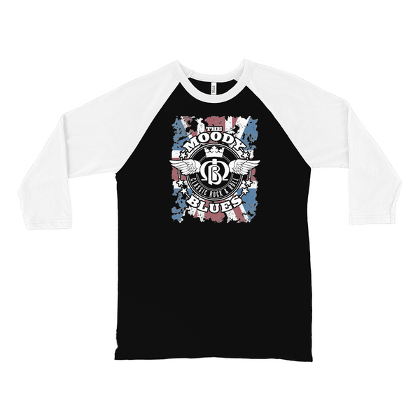 Union Jack Wings Logo Black Raglan