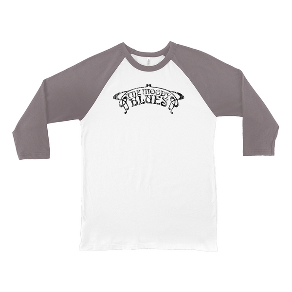 Distressed Black Logo Raglan