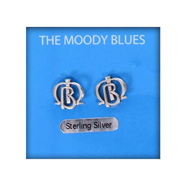 Moody Blues Sterling Silver Logo Earrings