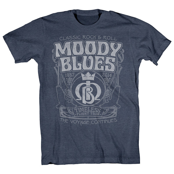 Moody Blues Filmore Style Timless Flight Heather Blue-Small