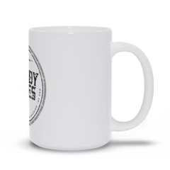 Nights In White Satin Circle Logo White Mug