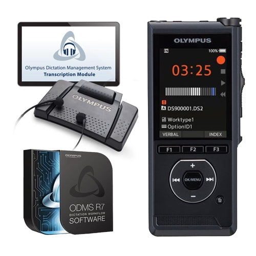 Olympus DS9000 Digital Voice Recorder Complete Solution
