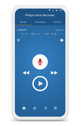 Philips Voice Recorder App LFH7400