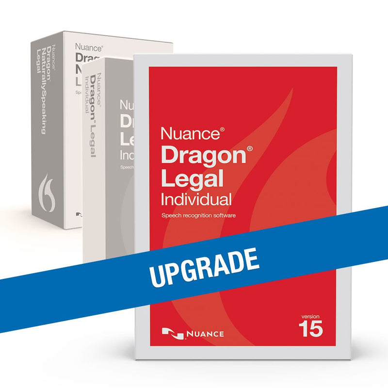 Upgrade to Dragon Legal Individual 15 from Professional 13 or DPI 14