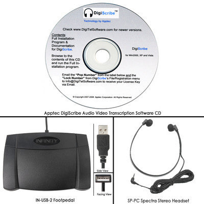 DigiTel Digiscribe PC Transcription Software