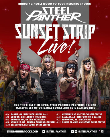 "Steel Panther is bringin' ""Sunset Strip LIVE"" to Canada!"