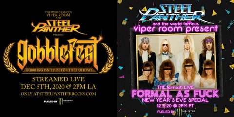 Steel Panther Double Your Pleasure Virtually with TWO Tickets for $20 Until December 5th