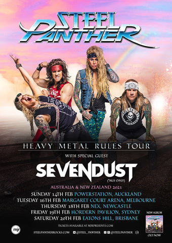 Steel Panther Announces Re-Scheduled Dates for Australian + New Zealand 'Heavy Metal Rules' Tour with Special Guests