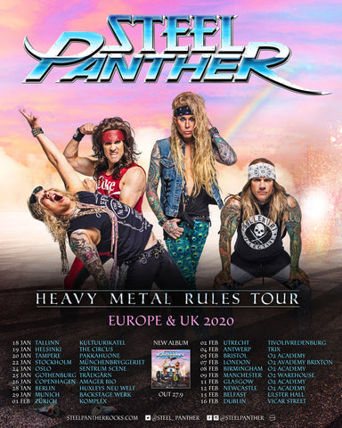 Steel Panther Announces 2020 European/UK Heavy Metal Rules Tour!
