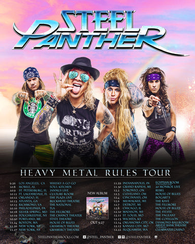 NEW DATES ANNOUNCED!!  2019 Heavy Metal Rules Tour!