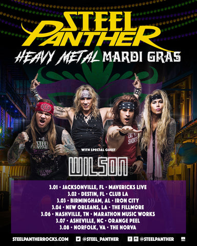 Steel Panther Announces #HeavyMetalMardiGras Dates!