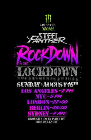 Steel Panther Announces 2nd Virtual Concert!  Rockdown In The Lockdown on August 16th!