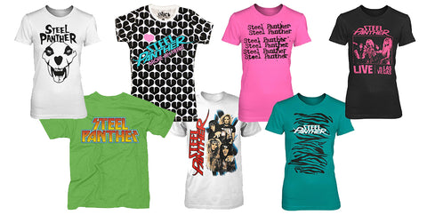 NEW /& OFFICIAL! Steel Panther /'All You Can Eat/' T-Shirt