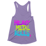 Heavy Metal Rules Womens Tank Top
