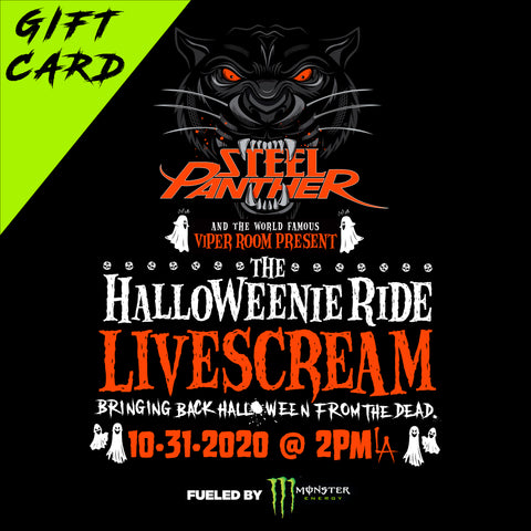 Gift Card for The Halloweenie Ride Livescream