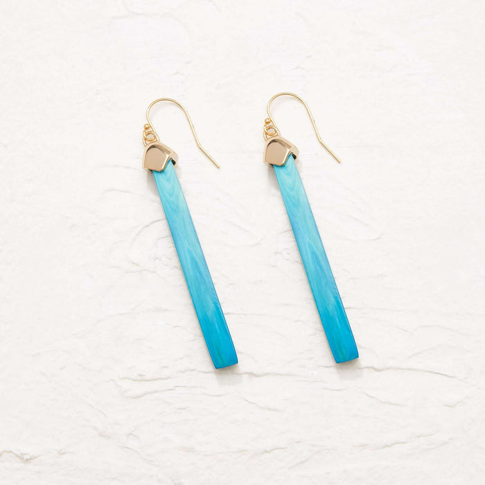 Dylan Linear Drop Earring in Horn