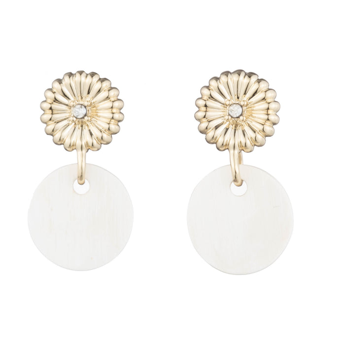 Rossi Small Drop Earring with Luxury Crystal Accent & Horn