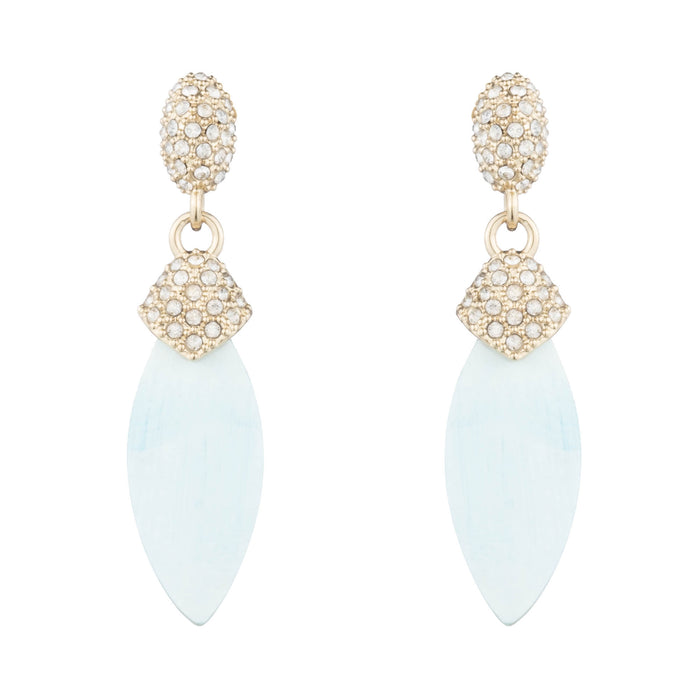 Tilia Horn & Crystal Drop Earrings
