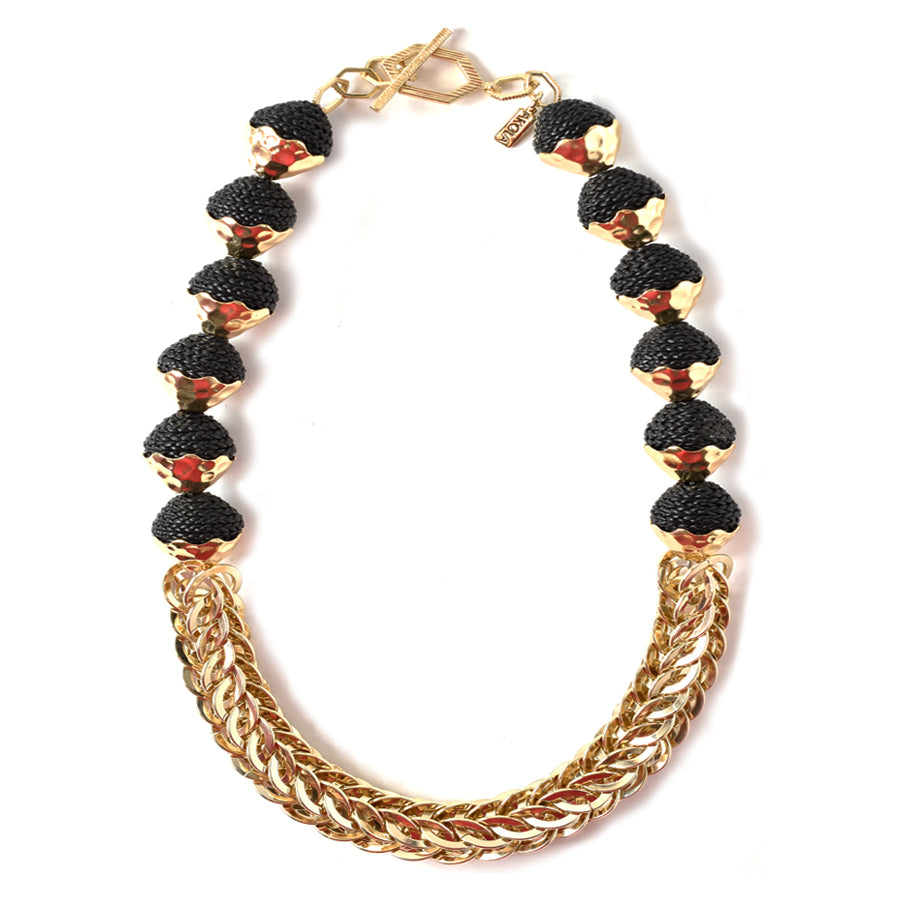 Chenglei Single Strand Chain and Karatasi Statement Necklace