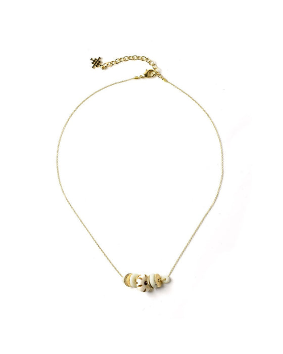 Dainty Chain Necklace with Bone - Akola