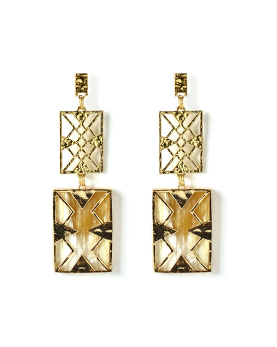 Horn Linear Statement Earrings - Akola