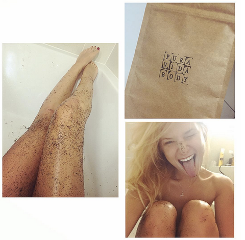 Klaudia Kovac model coffee scrub