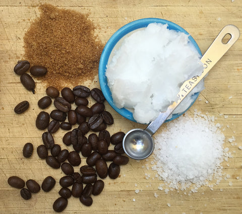 All Natural Ingredients in Our Organic Coconut Coffee Scrub