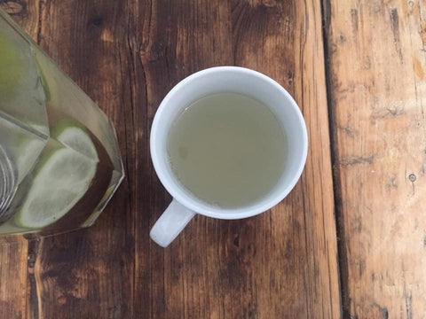 DIY Ginger Tea - Sip between organic coconut coffee scrub sessions!