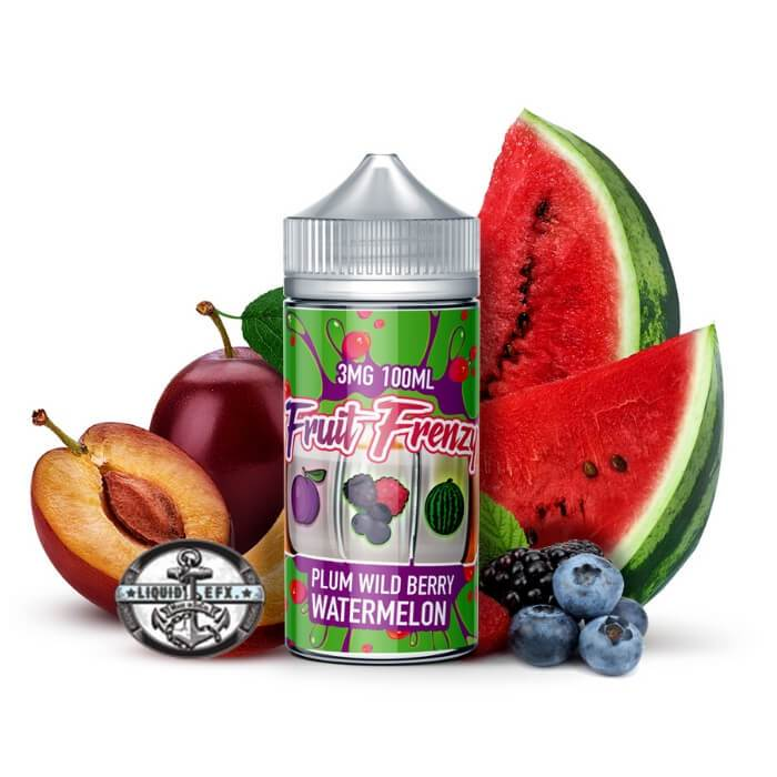 Fruit Frenzy Plum Berry Watermelon |<br> by Liquid EFX Vape