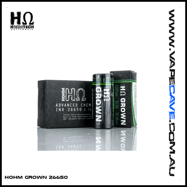 Hohm Grown 26650 | <br> Hohm Tech - VapeCave.com.au Australia | Australia's Premier Vape Shop Destination
