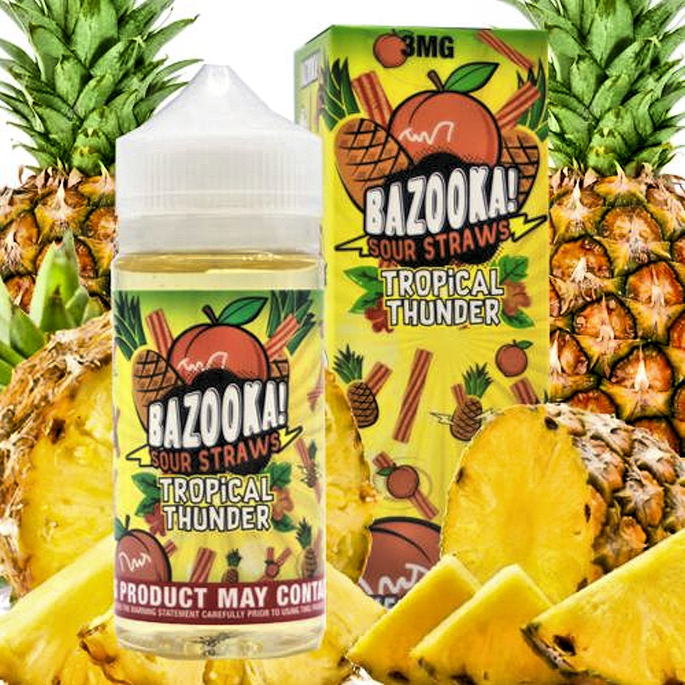 Pineapple Peach<br>| Sour Straw by Bazooka | e-liquid | VapeCave | Australia