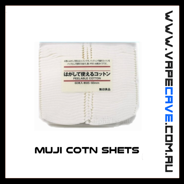Muji Cotn Shets<br> pack of 6 | Accessories | VapeCave | Australia