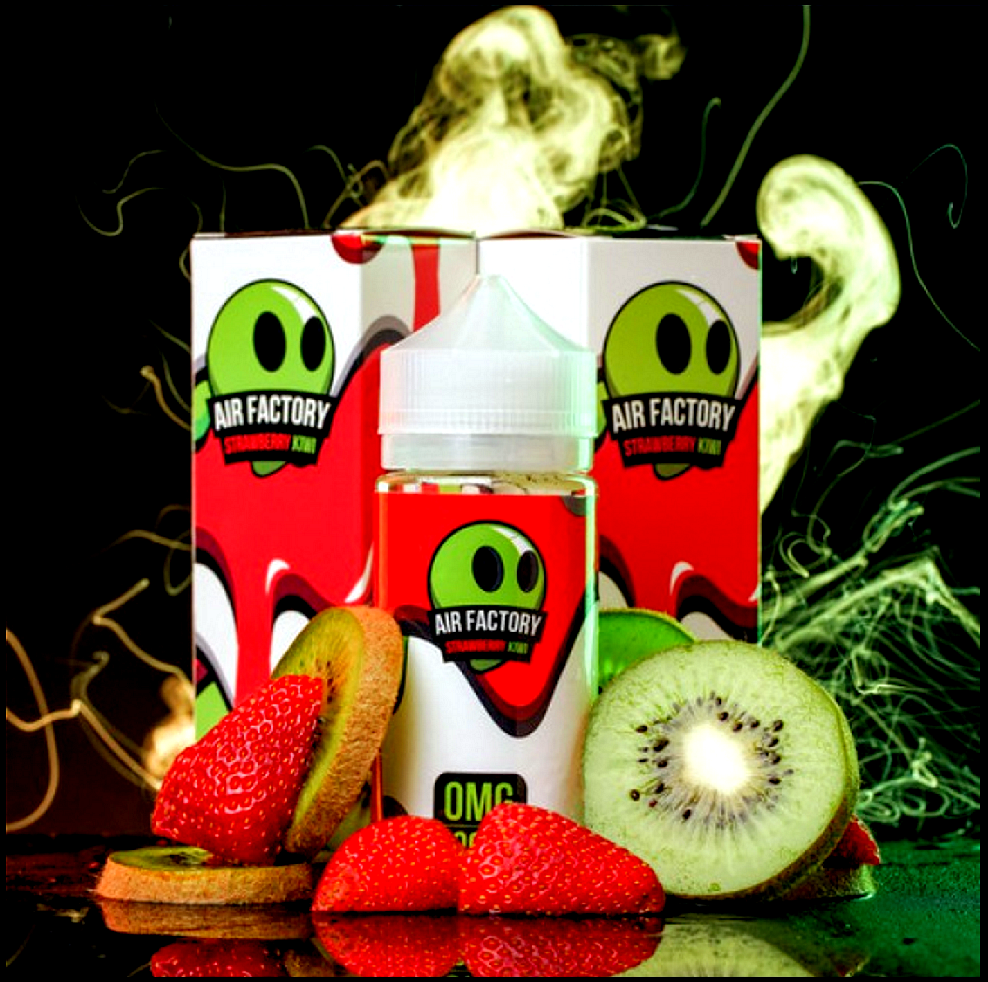 Strawberry Kiwi Eliquid | <br> by AIR FACTORY