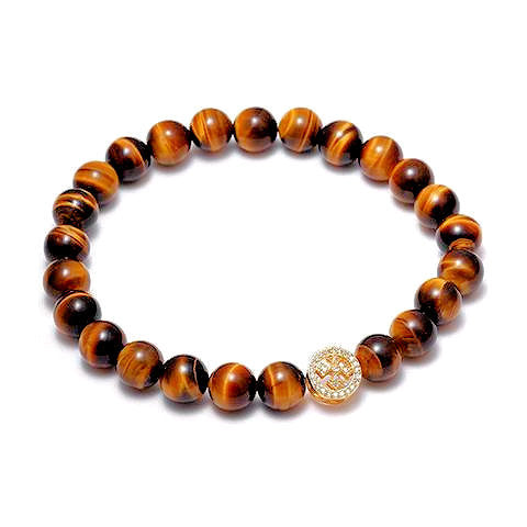 Tiger Eye Bead Bracelet | <br> by Theodore Designs