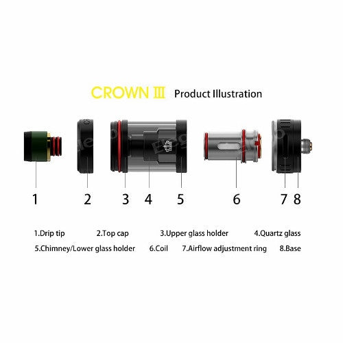 Crown V3 Tank | <br> by Uwell - Wholesale Vape Supply | E-Liquids | Mods | Electronic Cigarettes Drip Cave®