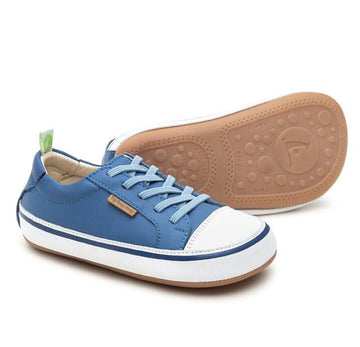 Tip Toey Joey Boy's and Girl's Funky Sneakers, Blue Tang/White