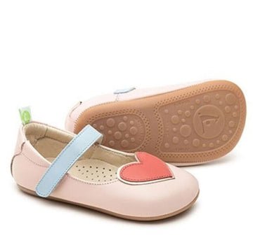 Tip Toey Joey Girl's Hearty Mary Jane, Cotton Candy/ Coral Matte