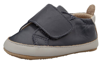 Old Soles Girl's & Boy's Wendle Hook and Loop Closure Sneakers - Navy/Gris