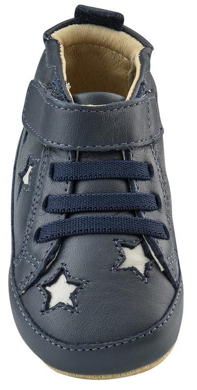 Old Soles Boy's High Splash Sneakers, Navy/Gris