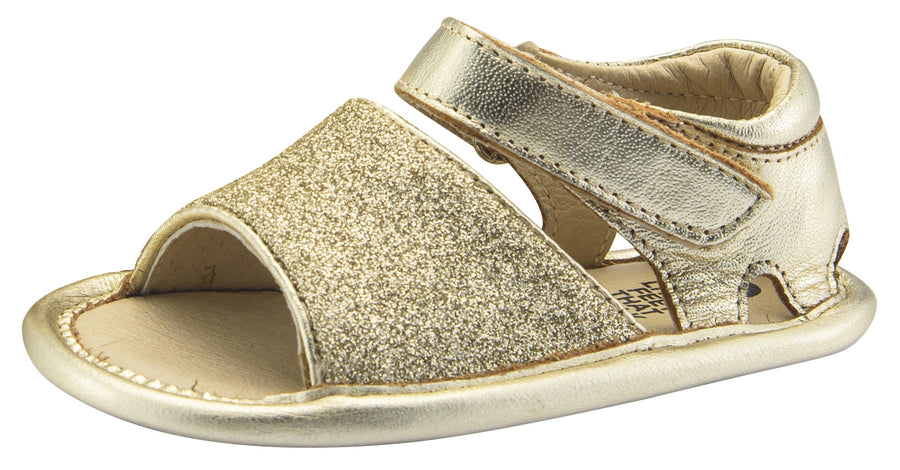 Old Soles Girl's Glam Bub Flexible Rubber First Walker Sandals, Glam Gold