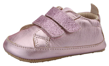 Old Soles Girl's Bambini Glam Flexible Rubber First Walker Sneakers - Pink Frost/Glam Pink