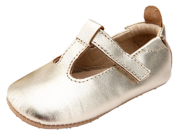 Old Soles Girl's 0018R Ohme-Bub Shoe - Gold