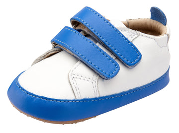Old Soles Boy's and Girl's Eazy Markert Sneakers - Snow/Neon Blue