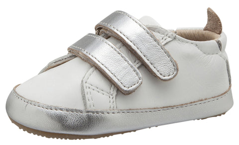 Old Soles Boy's & Girl's Eazy Markert Sneakers, Snow / Silver