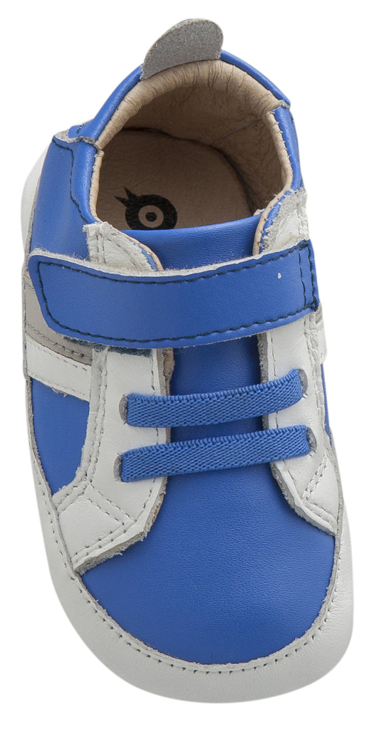 Old Soles Boy's and Girl's Mini Jogger, Neon Blue / Snow / Gris
